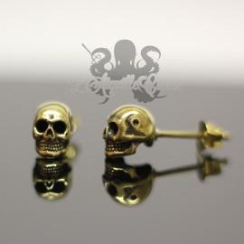 Paire de boucles d'oreilles Crâne en bronze