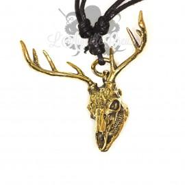 Collier Tête de cerf en bronze