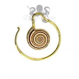 Paire de poids en bronze Coquillages
