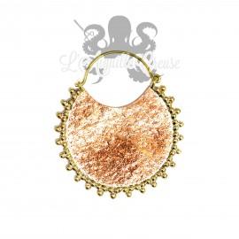 Paire de boucles d'oreilles en bronze & cuivre