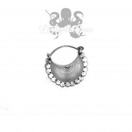 Paire de boucles d'oreilles en Argent 925 & Bronze blanc