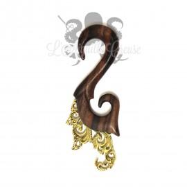 Corne en bois de Narra & bronze
