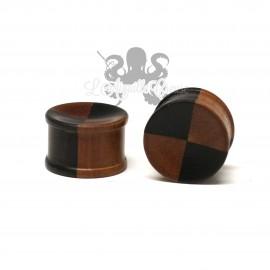 Plug en bois bicolore Arang / Sawo