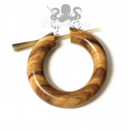 Paire de boucles d'oreilles en bois d'olivier