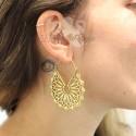 Paire de boucles d'oreilles en bronze