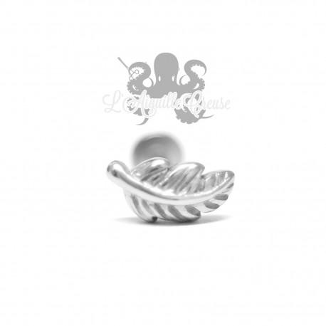 Bijou de cartilage/tragus Plume