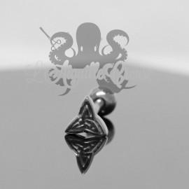 Bijou de langue Triquetra en fonte d'acier