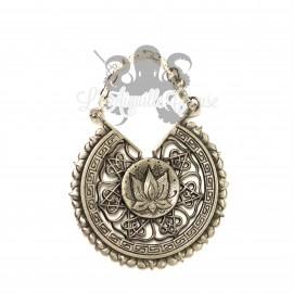 Paire de poids en bronze blanc Lotus