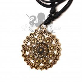 Collier Mandala en bronze cuivré