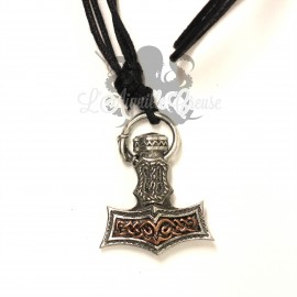 Collier Martheau de Thor en bronze blanc et cuivré