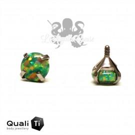Opale synthétique griffé de 4 mm QualiTi en titane - pour 1.2 mm