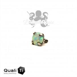 Opale synthétique griffé de 3 mm QualiTi en titane - pour 1.2 mm