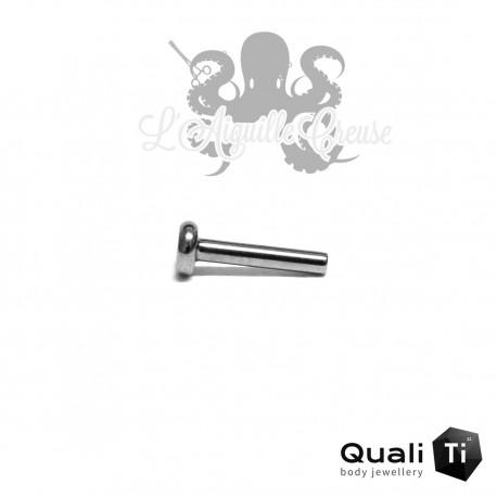 Barre de Labret QualiTi 1.2mm pas de vis interne