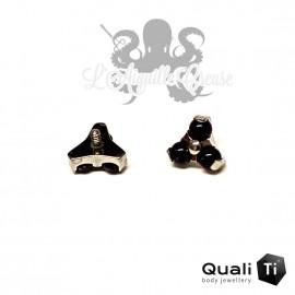 Accessoire QualiTi en titane & trio de Goldstone - pour 1.2 mm
