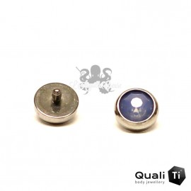 Accessoire QualiTi en zircon topaz et titane - pour 1.2 mm