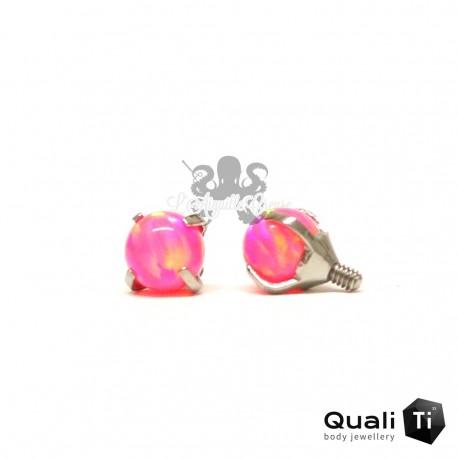Accessoire QualiTi en titane & opale synthétique de 4 mm , pour 1.6 mm
