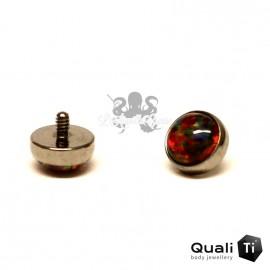Cabochon d'opale synthétique de 4 mm QualiTi en titane - pour 1.2 mm
