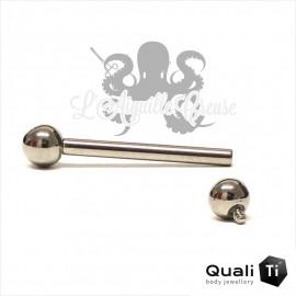 Barbell QualiTi 1.6mm pas de vis interne
