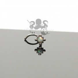 Stud de narine oriental & opale synthétique en acier chirurgical 316L