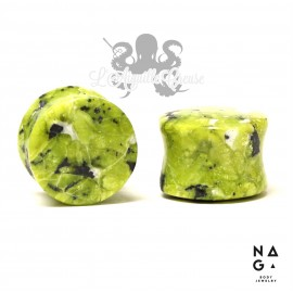 Paire de plugs en Lizardite - NAGA