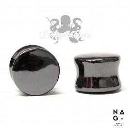 Paire de plugs en Hématite - NAGABodyJewelry
