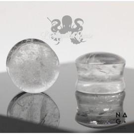 Paire de plugs en Cristal Quartz - NAGABodyJewelry