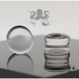 Paire de plugs en Top Cristal Quartz - NAGABodyJewelry
