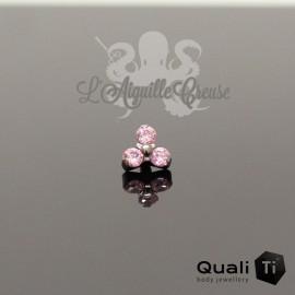 Accessoire QualiTi en titane & trio de zircons - pour 1.6 mm