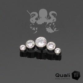 Accessoire QualiTi en titane & MAXI 5 zircons - pour 1.2 mm