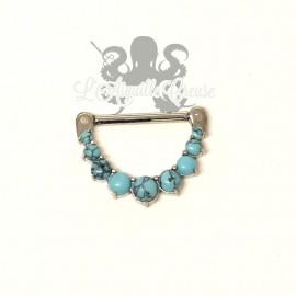 Bijou de téton Turquoise