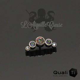 Accessoire QualiTi en titane & 5 zircons Vitrail - pour 1.2 mm