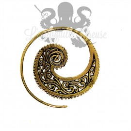 Boucle d'oreille Spirale ornementale