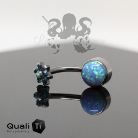 Bijou de nombril QualiTi en Titane implantable