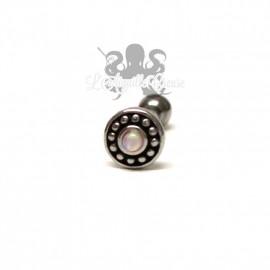 Bijou de cartilage Opale synthétique en Acier chirurgical 316L