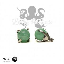 Accessoire QualiTi en titane & jade de 4 mm , pour 1.6 mm