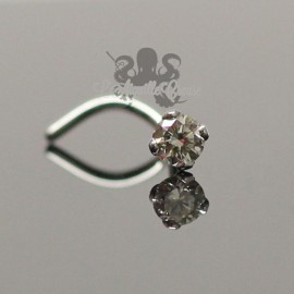 Stud Or blanc 18 carats & Diamant de 2.5 mm