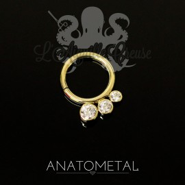 Anneau en or jaune 18k Anatometal - Seam Ring