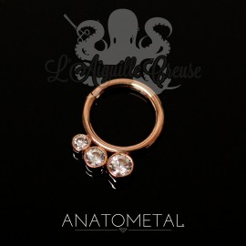 Anneau en or rose 18k Anatometal - Seam Ring