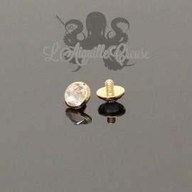 Accessoire en Or 18 carats & zircon, pour bijou en 1.6 mm
