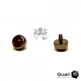 Cabochon d'opale synthétique de 3 mm QualiTi en titane - pour 1.6 mm