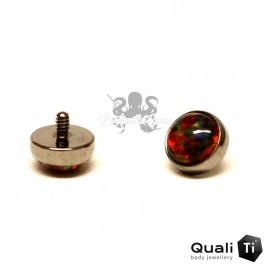 Cabochon d'opale synthétique de 4 mm QualiTi en titane - pour 1.6 mm