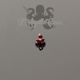 Accessoire en Or 18 carats & Rubis, pour bijou en 1.6 mm