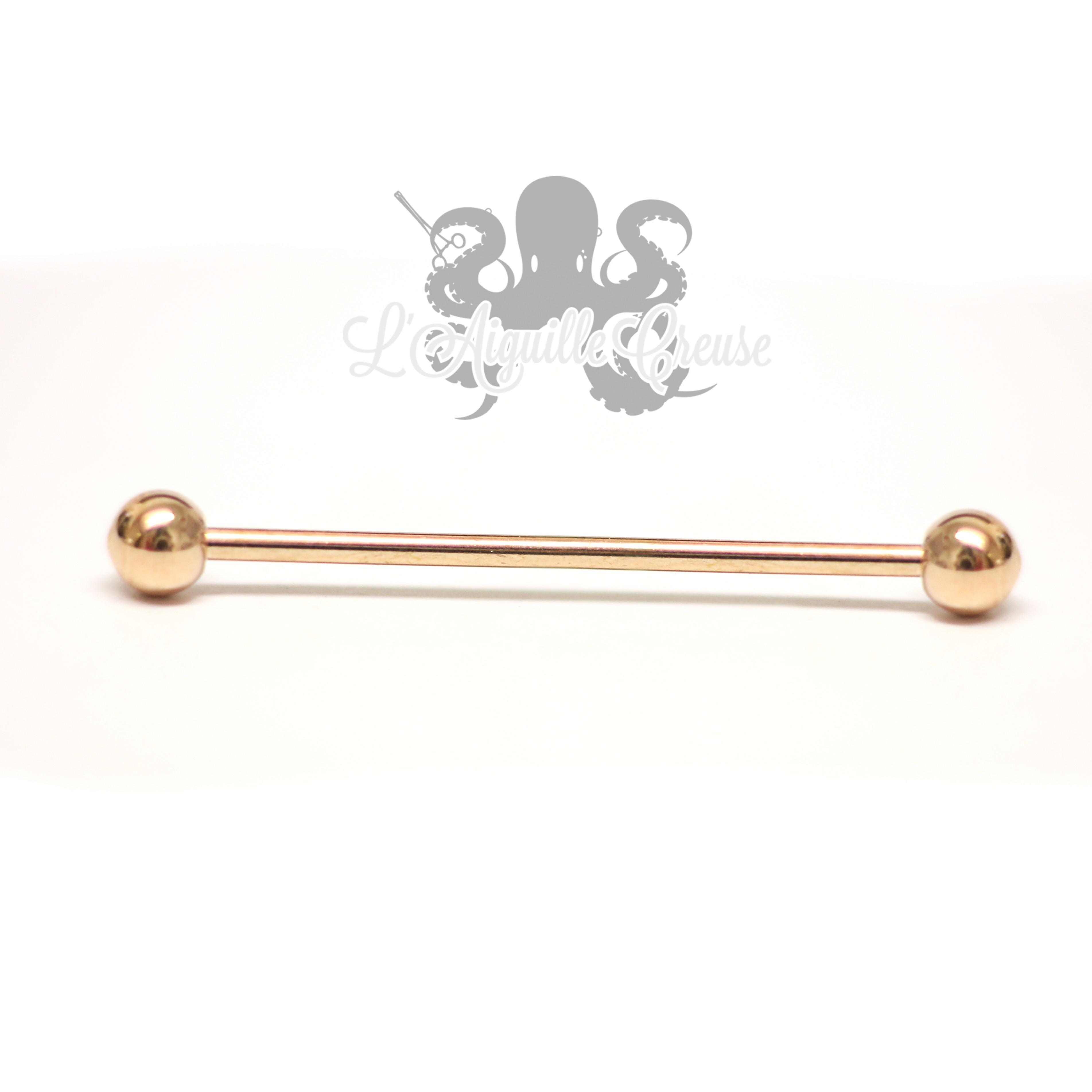 Bijou d'industriel pvd rose gold L'Aiguille Creuse Body Piercing