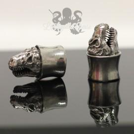 Plug en Bronze blanc crâne d'ours