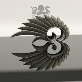Paire de plugs Ailes en Bronze blanc