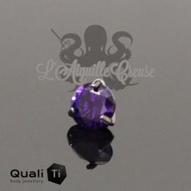 Accessoire QualiTi en titane & zircon violet , pour 1.6 mm