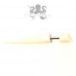 Boucle d'oreille fausse corne en bois ou os