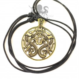 Collier Dragon viking en bronze