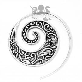 Boucle d'oreille en bronze plaqué argent 925