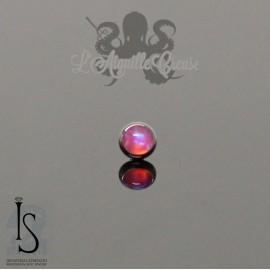 Cabochon en titane & opale IS pour 1 ou 1.2 mm (à créer)